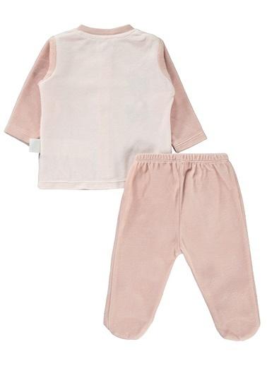 Civil Baby Kız Bebek Pijama Takımı Pudra
